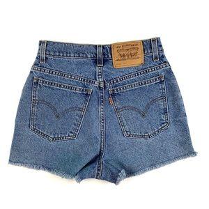 Vintage Levis Orange Tab High Waist Shorts